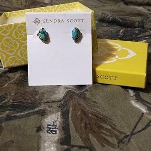 Kendra Scott Variegated Turquoise Studs